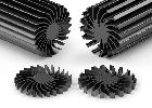 LED heatsinks with integrated mounting hole - DAU Components