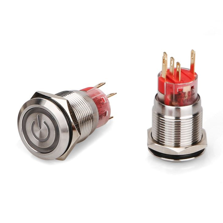 25mm LED Momentary Switch